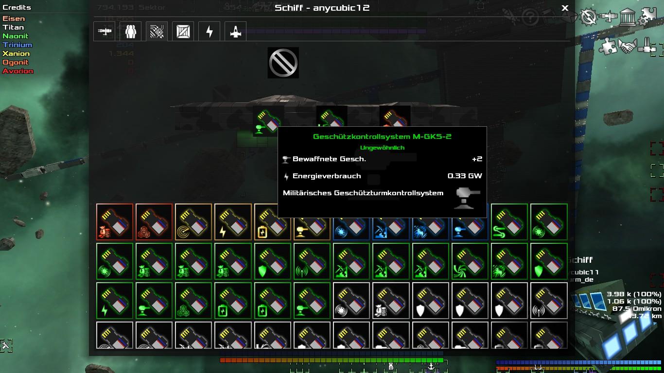 Systemupgrades erhöhen die Anzahl der Waffen